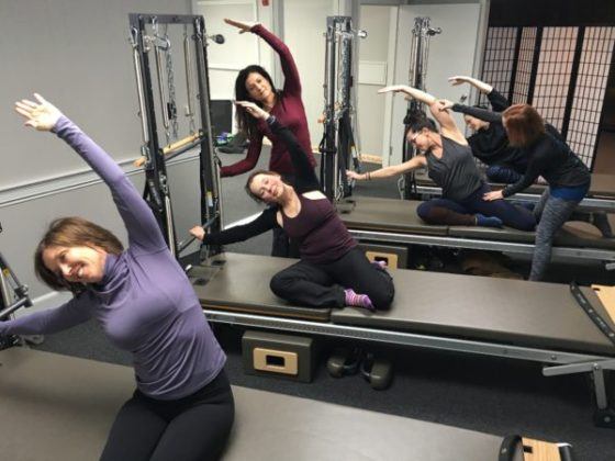 Using the Stott Pilates Reformers at The Core Connection's new Pilates studio in Westborough